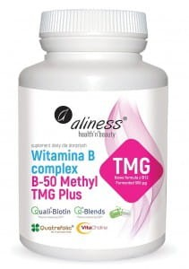 Witamina b complex B-50 Methyl TMG Plus 100kaps Aliness